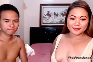 Asian amateur bbw is fucked on cam