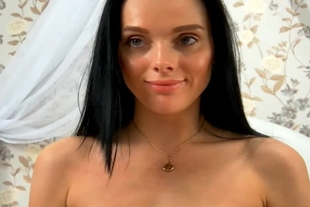 Petite Brunette Striping With Sex Appeal