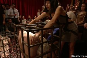1017831 Public Party With Caged Hot Slaves