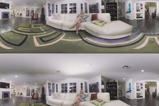 VR 360 · PAWG AJ APPLEGATE RIDES YOUR BBC FOR HER FIRST