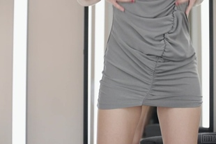 Fitting-Room · Caomei Micro G-String In Her Wet Pussy