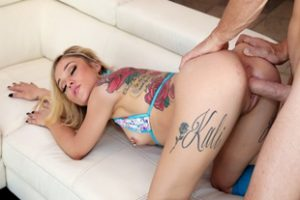 1035672 Tattooed Blonde Teen Getting A Hard Fuck