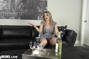 Freakish mature stepmother riding on son