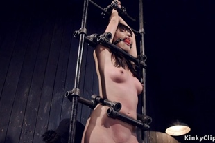 Waxed and strapped Asian tormented