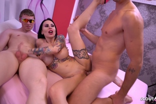 Nerd Guy First Time Join German Big Tits Teen in Threes