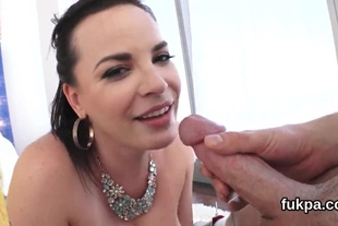 Glamorous sex kitten shows off huge ass and gets anus p