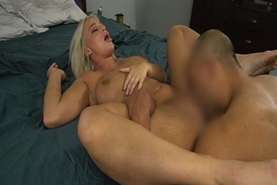 Hot milf gets intimate with her stepson