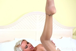 Blonde MILF cheats with her horny stepson