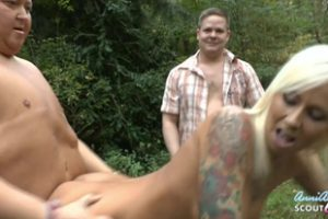 1071434 Two Ugly Nerd Guys Fuck German Skinny Teen Outdoor In 3