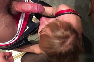 Hotwife bareback spit roasted by two dicks.
