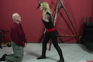Cruel Face Slapping and Spit in Face Femdom Humiliation