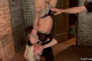 1104248 Blonde In Upside Down Suspension Punched