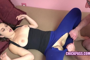 Perky Coed Anastasia Rose Gets Laid in her Torn Legging