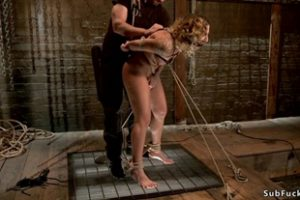 1123307 Suspended Blonde Slut Is Toyed On Hogtie