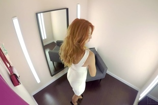 Fitting-Room · Red Fox · Anal Plugged Booty Redhead