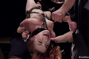 Redhead mouth banged in suspension