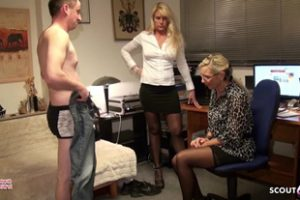 1143852 Young Guy Failure Fuck Two German Milfs Dad Join And