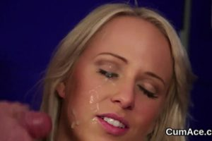 1153914 Spicy Peach Gets Cumshot On Her Face Swallowing All The