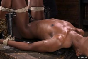 1156723 Ebony Slave Is Anal Plugged And Banged