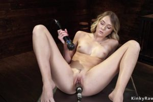 1158121 Blonde Bangs Machine And Squirts