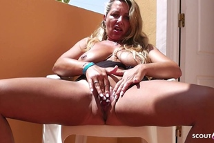 Flash in Plane and Fuck on Holiday · German Mom got cra
