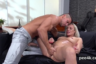 Stellar bombshell gets her spread snatch absolute of wa