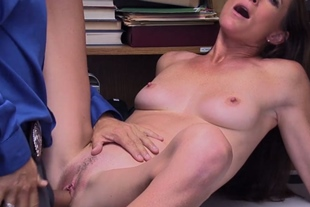 Skinny french mature shoplifter punished