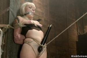 1180327 Big Ass Blonde Toyed On Hogtie