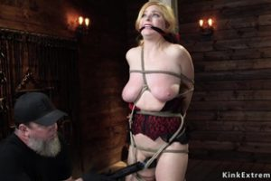 1184413 Busty Blonde Sub Toyed In Suspension