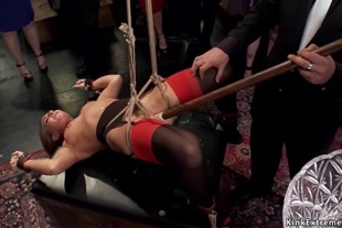 Hot slaves are toyed and banged in bdsm