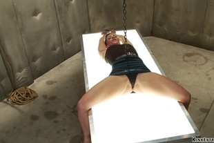 Ariel X is tied and machine fucked