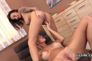 1217779 Sensual Lesbo Teenies Get Sprayed With Piss And Blast W