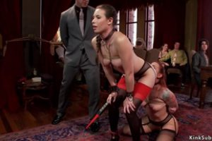 1221288 Two Slaves Fuck Big Cock At Bdsm Party