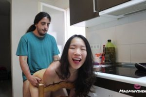 1247504 Doggystyle In The Kitchen With Horny Chinese Mao