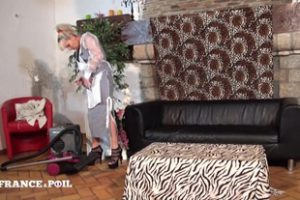 1248152 La France A Poil A Mature Cougar Gets Her Ass Hammere