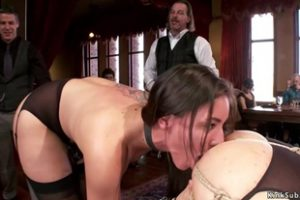 1300548 Bound Slaves Anal Fuck At Orgy Party