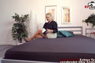 german old mature granny seduced her son