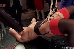 Squirting sluts fucked at bdsm party