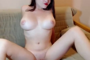 Webcam perfect big tits girl teasing and playing