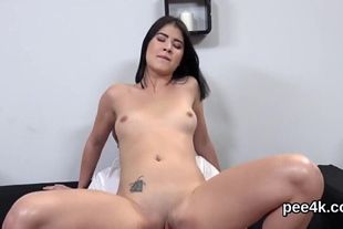 Exquisite babe gets her spread kitty absolute of warm p