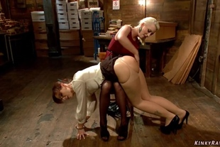 MILF librarian spanked and fucked