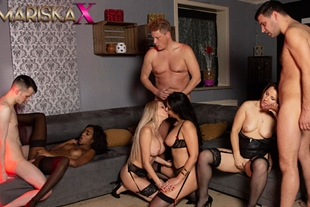 Orgy with Mariska and her friends Part 3