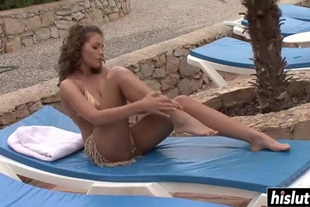 Pretty girls like to masturbate together outdoors
