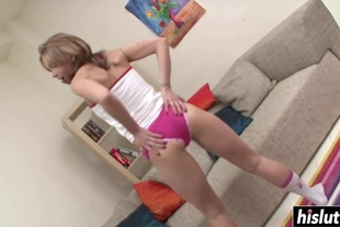 Cute girl knows how to use a dildo
