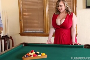 Insane Blonde Drilled on Pool Table