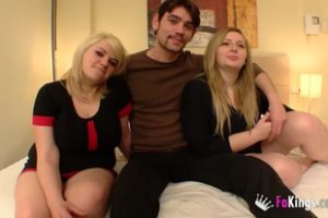 477604 Two Sisters Blondes Fucked Lucky Guy