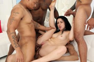 497526 Latina Lets Four Black Guys Fuck Her Ass And Pussy