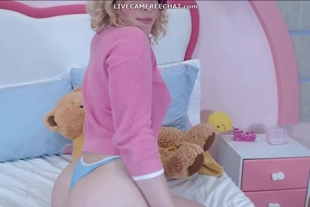 Webcam Teen with Perfect Curvy Ass and Hairy Pussy