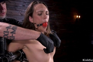 Hot ass babe in stock gets whipped