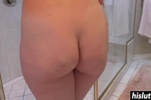 Lily Cade has fun in the shower